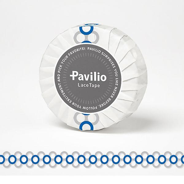 【日本Pavilio】風格膠帶Standard系列F-ST21WB優雅泡泡(藍)捲