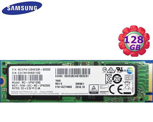 Samsung 三星 SSD 128GB 128G【NVMe】SM961 Gen3 M.2 80mm PCIe 3.0 x4 MZVPW128HEGM 固態硬碟