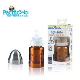 【淘氣寶寶】Pacific Baby 美國不鏽鋼保溫太空瓶4oz (自信橘)【挑戰最長使用10年,耐摔耐用好省錢】