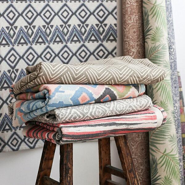 北歐風格地毯玄關地墊門墊客廳臥室床邊地墊腳踏墊