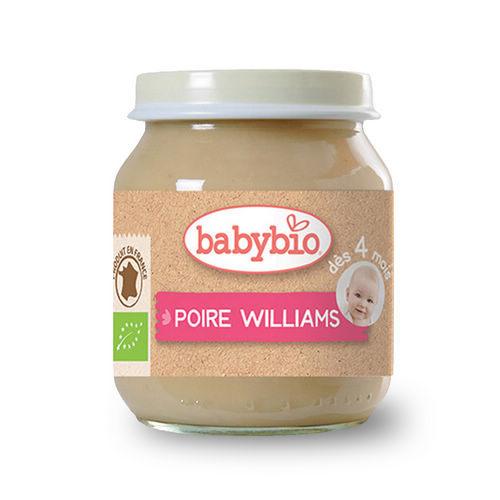 法國倍優Babybio有機洋梨鮮果泥4m+有機副食品鮮果泥