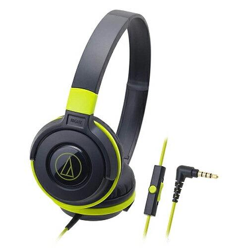 <br/><br/>  鐵三角 ATH-S100iS 耳罩式耳麥 綠【三井3C】<br/><br/>