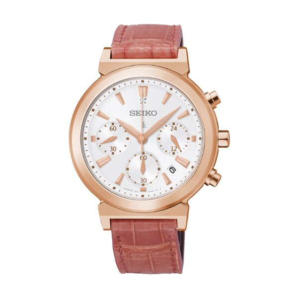Seiko Lukia V175-0AJ0R(SSC898J1)城市愛戀太陽能計時腕錶/白面35mm