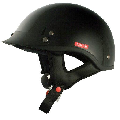 VCAN V531 Motorcycle Cruiser Half Helmet Solid Color (Gloss Black) eb1d89f77d2a19f0b56c10b9c54c918b