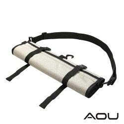 【AOU】可斜揹 捲式衣物收納袋 衣物旅行袋 多隔層 YKK配件台灣製造 (米色107-031)【威奇包仔通】