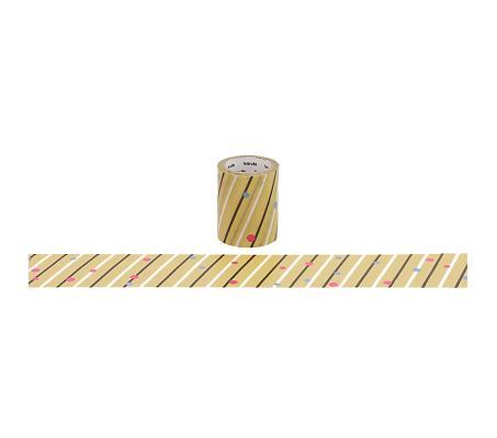 【日本Bande】紙膠帶系列和紙膠帶BDA265和柄縞紋捲
