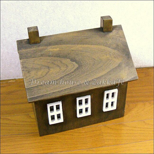 azi-azi 鄉村風日系Zakka 原木房屋造型置物盒 / 收納盒《日本原裝進口》★ Zakka'fe ★ 2