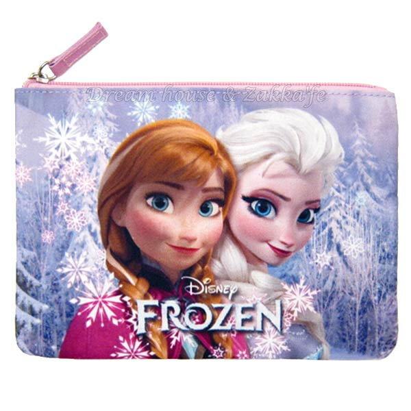 Disney 冰雪奇緣 安娜 / 艾莎 Anna Elsa 化妝包 / 小物包 / 小包包 《 Disney FROZEN 》★ Zakka'fe ★ - 限時優惠好康折扣