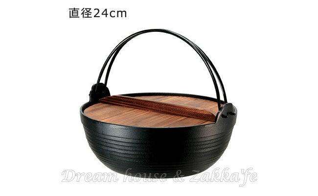 日本 南部鐵器 池永鐵工 新健康鍋/鑄鐵鍋 24cm《 附杉木蓋 》 ★ 日本製 ★ Zakka\
