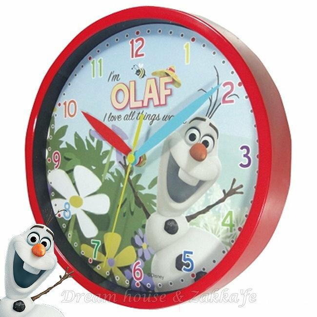日本正版 Disney 迪士尼 冰雪奇緣 雪寶 圓形掛鐘/時鐘 ★ Zakka'fe ★