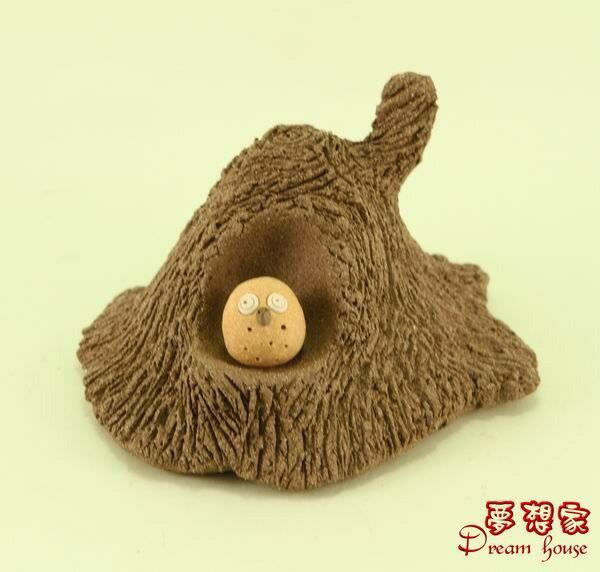 超可愛樹洞與小湯圓貓頭鷹【M】《可與荷蘭娃娃搭配喔》★台灣設計純手工捏製★手作陶製品