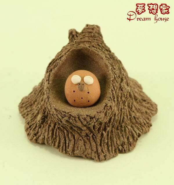 超可愛樹洞與小湯圓貓頭鷹【S】《可與荷蘭娃娃搭配喔》★台灣設計純手工捏製★手作陶製品