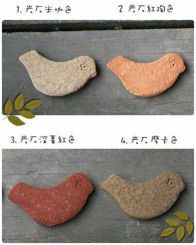 超可愛陶製小鳥造型餅乾磚★台灣設計純手工捏製★手作陶製品