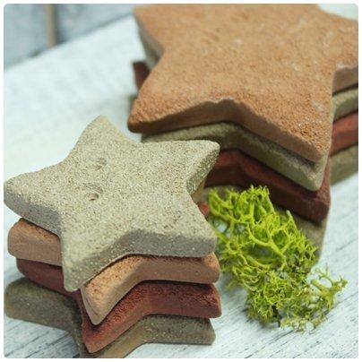 超可愛陶製星星造型餅乾磚(小)★台灣設計純手工捏製★手作陶製品