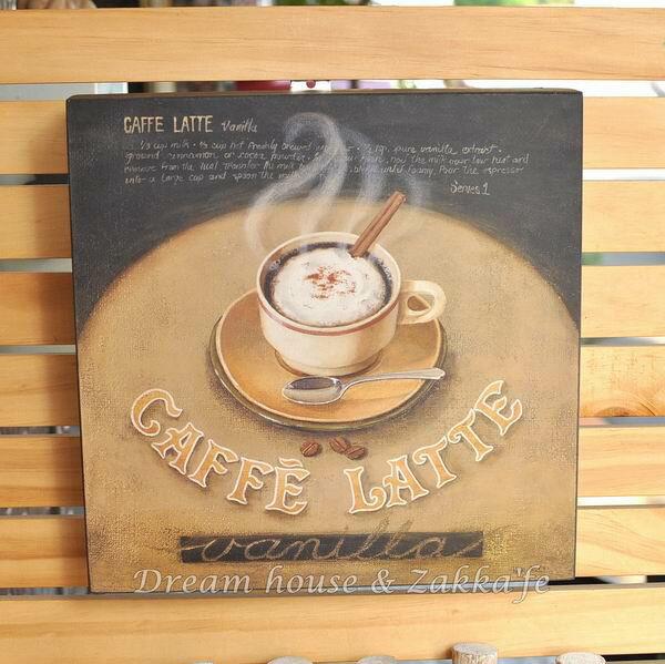 鄉村仿舊木板畫 咖啡 《LATTE》★質感很棒★ - 限時優惠好康折扣