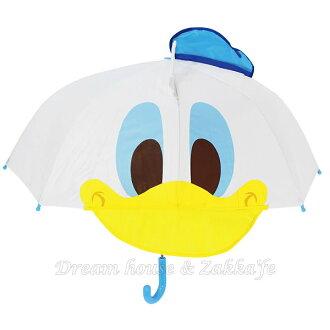 日本正版 Disney 迪士尼 造型兒童雨傘《 唐老鴨 》 ★ Zakka\