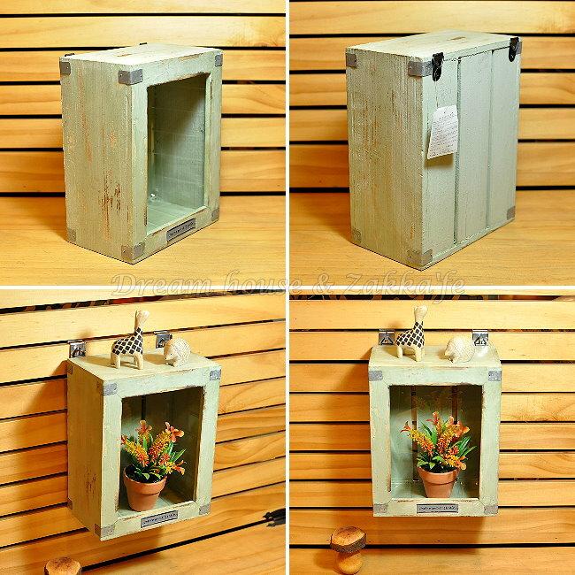 日本進口 鄉村風 Zakka 仿舊木製木框兩用壁架/收納籃 《 適合多肉和種子盆栽喔 》 ★ Zakka\