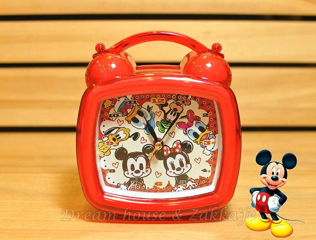 日本正版 Disney 迪士尼 米奇好朋友 附燈鬧鐘《 可自由切換鈴聲或音樂喔 》★ Zakka\