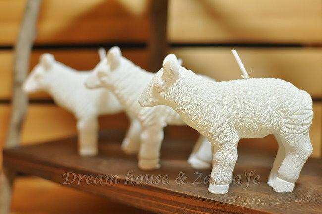 日本進口 綿羊造型蠟燭 3個一組 《 細緻可愛 純擺飾也漂亮 》★ Zakka'fe ★ - 限時優惠好康折扣