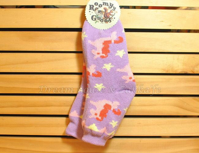 保暖雙層鋪棉毛線襪 短襪 室內襪 23^~25cm~ 紫色小馬 ~~ Zakka  ^#2