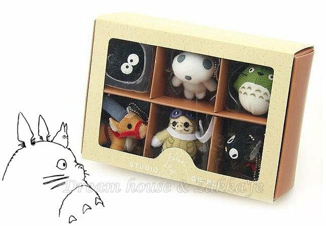 日本宮崎駿 龍貓 Totoro 紅豬 魔女宅急便 玩具/公仔吊飾組合 《 6款禮盒裝 》★ Zakka'fe ★