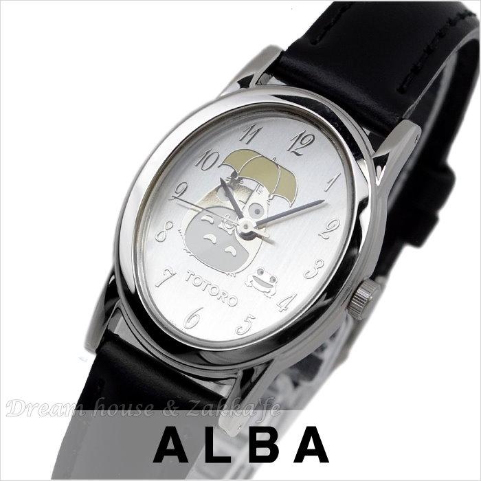 日本進口 宮崎駿 龍貓 ALBA精工 雅柏錶 銀色橢圓款 手錶/手表 《 日本機芯 》★ Zakka\