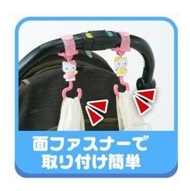日本PINOCCHIO 三麗鷗 Sanrio Hello Kitty 活動式可360度旋轉 推車/嬰兒車 掛勾 《 2款一組 》★ Zakka\