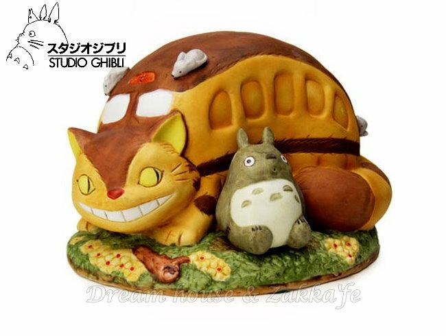 日本宮崎駿 Totoro 龍貓 陶瓷音樂鈴/音樂盒 龍貓公車 《 日本原裝進口 》Zakka'fe