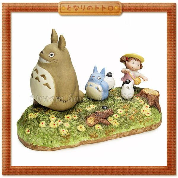 日本宮崎駿 Totoro 龍貓 陶瓷音樂鈴/音樂盒 龍貓小梅散步 《 日本原裝進口 》Zakka'fe