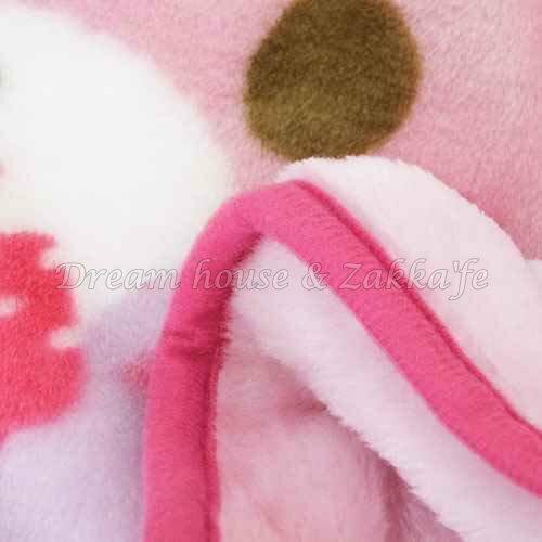 日本限定 正版三麗鷗 Sanrio BONBONRIBBON 蹦蹦兔 披肩毛毯 / 毯子 / 冷氣毯 / 兒童毯 《 紫 / 粉 2色任選 》 ★ Zakka'fe ★ 1