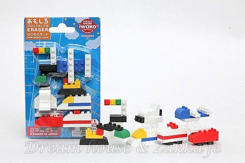 日本 iwako 軍艦 立體造型橡皮擦 環保無毒《 LEGO 樂高積木 》★ 日本製 ★ Zakka'fe ★