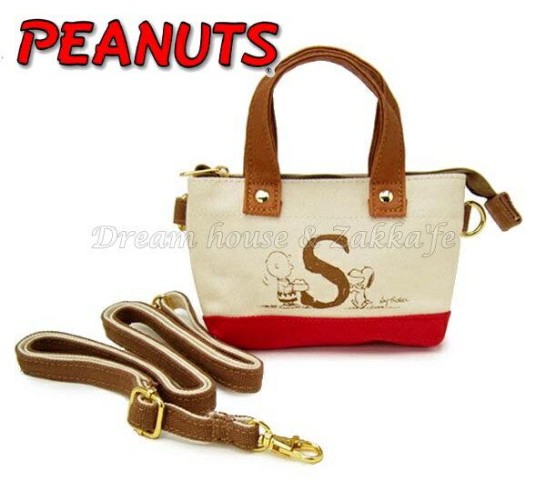 日本正版 PEANUTS 史努比 Snoopy 可斜背 小物袋/手機袋/萬用袋/隨身包 《 可直接觸控手機喔 》★ Zakka'fe ★