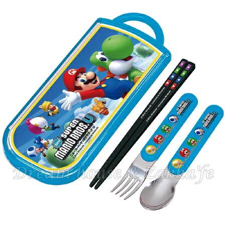 日本 Mario 瑪莉歐/馬力歐 環保餐具組 《筷子/湯匙/叉子一組》 ★ 日本製 ★ Zakka\