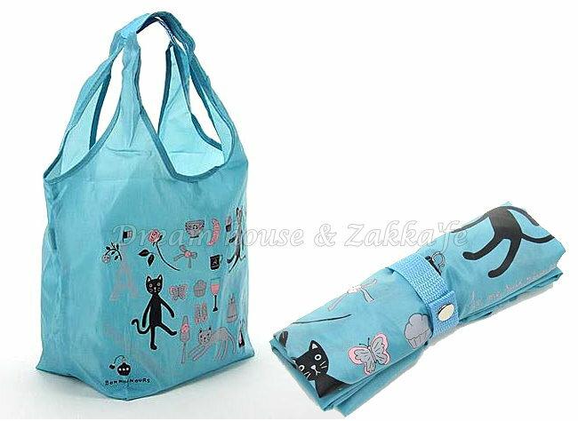 日本進口 戶崎尚美 可摺疊收納環保購物袋 《 貓咪 / 鐵塔 藍 》★ Zakka'fe ★ - 限時優惠好康折扣