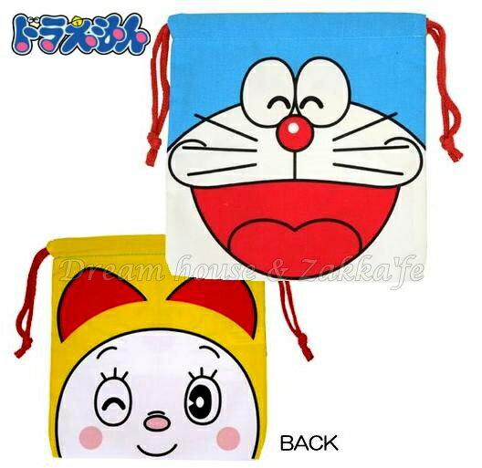 日本進口 哆啦A夢/哆啦美 束口袋/小物袋/收納袋 《 寶貝外出裝奶嘴零食也適合喔 》 ★ Zakka\