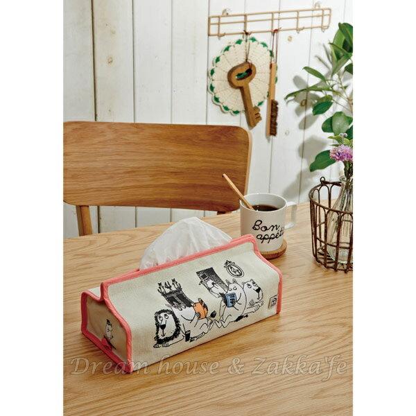 日本進口 正版 嚕嚕米 日式面紙盒套 / 面紙盒 / 面紙套 《 MOOMIN 》★ Zakka'fe ★ 0