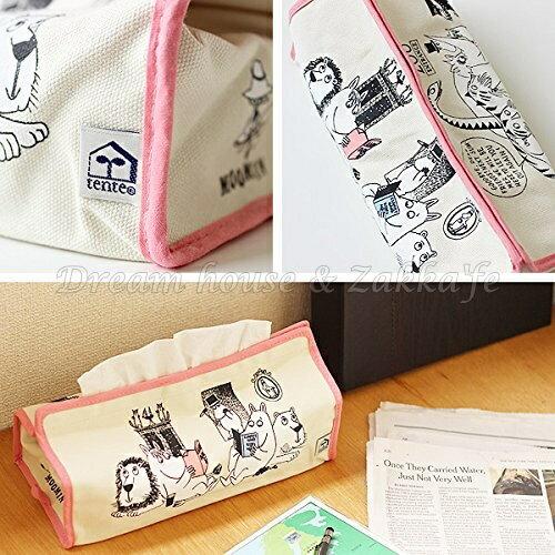 日本進口 正版 嚕嚕米 日式面紙盒套 / 面紙盒 / 面紙套 《 MOOMIN 》★ Zakka'fe ★ 2