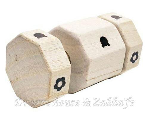 日本進口 原木 手搖鈴玩具 《 安全有保障的幼兒 / 兒童玩具 》★ 桐木製 ★ Zakka'fe - 限時優惠好康折扣