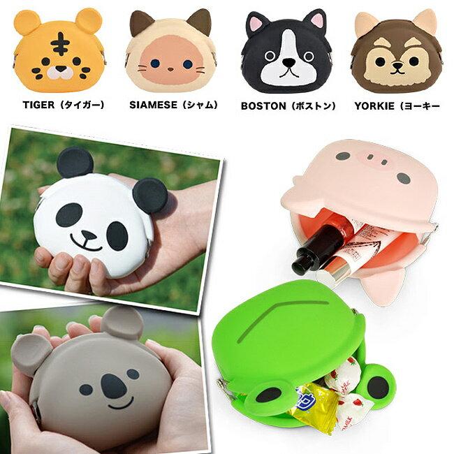 日本進口 獅子 造型 矽膠果凍 零錢包 / 小物包 / 貝殼包 / 雜物包 《多用途喔》★ Zakka'fe ★ 1