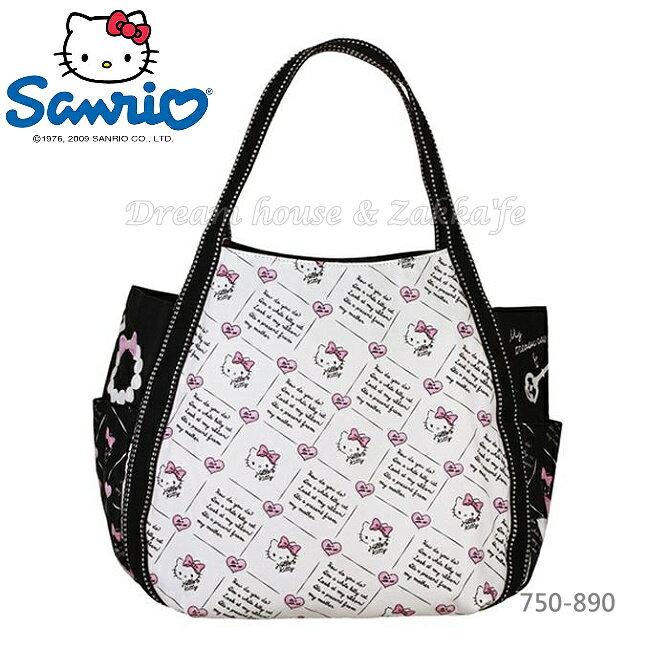 日本進口 sanrio 三麗鷗 Hello Kitty 凱蒂貓 托特包/媽媽包/大容量包包 《 0054 》★ Zakka'fe ★