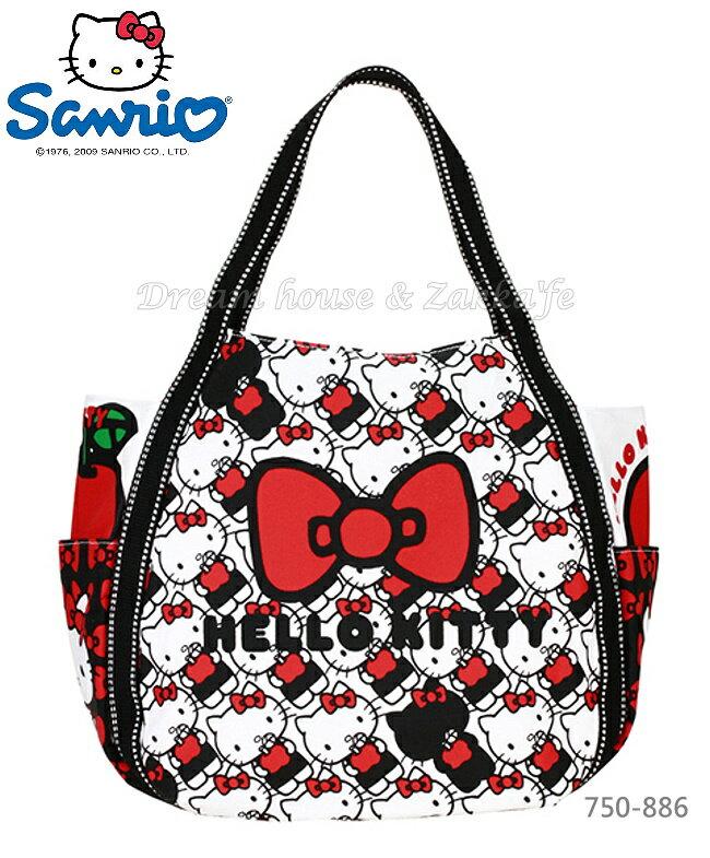 日本進口 sanrio 三麗鷗 Hello Kitty 凱蒂貓 托特包/媽媽包/大容量包包 《 0048 》★ Zakka'fe ★
