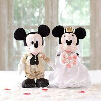 婚禮小物推薦到日本正版 Disney 迪士尼 米奇/米妮/米老鼠 金色婚紗款 婚禮玩偶/絨毛娃娃 《 婚禮小物/結婚禮物 都適合喔 》 ★ Zakka'fe ★