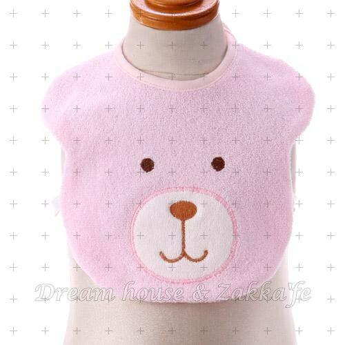 日本製 棉製毛巾布 小熊 / 熊熊 圍兜兜《 3色任選 》★ 兒童 / 幼兒 圍兜兜 ★ Zakka'fe - 限時優惠好康折扣