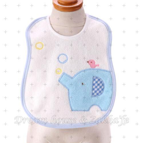 日本製 棉製 大象 圍兜兜《 3色任選 》★ 兒童 / 幼兒 圍兜兜 ★ Zakka'fe - 限時優惠好康折扣