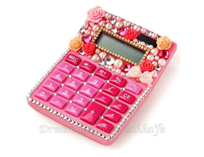 日本進口 粉紅 水鑽玫瑰 計算機 《 太陽能 》★ Zakka'fe ★ - 限時優惠好康折扣