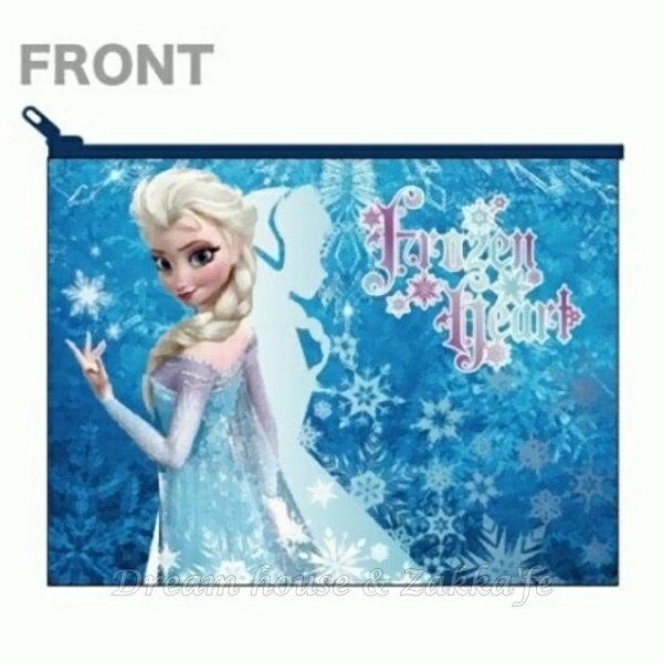 日本製 Disney 冰雪奇緣 艾莎 / Elsa 化妝包 / 小物包 / 小包包 《 Disney FROZEN 》★ Zakka'fe ★ - 限時優惠好康折扣