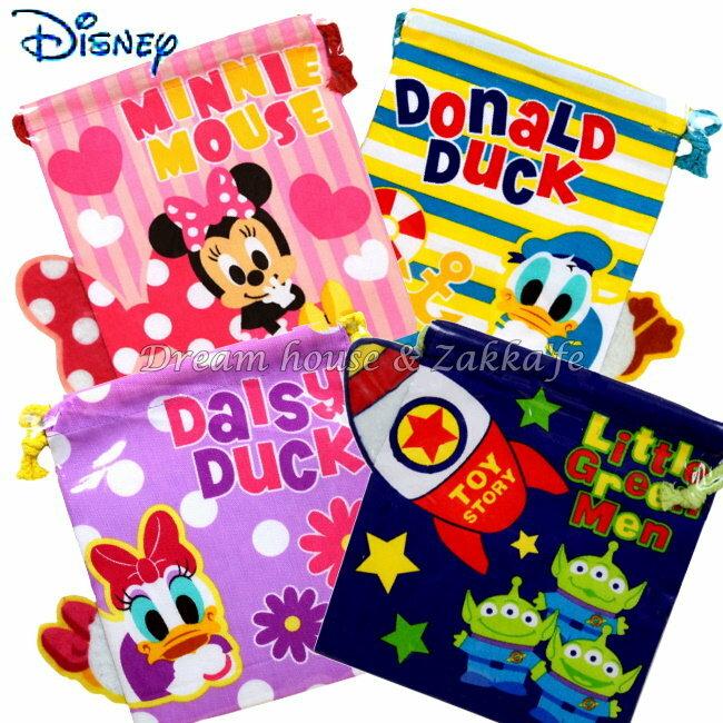 日本 Disney 迪士尼人物 束口袋 / 小物袋 《 4款任選 》 ★ 當化妝包 / 雜物包 / 裝衛生棉 / 寶貝外出奶嘴零食 都適合喔 ★ Zakka'fe - 限時優惠好康折扣