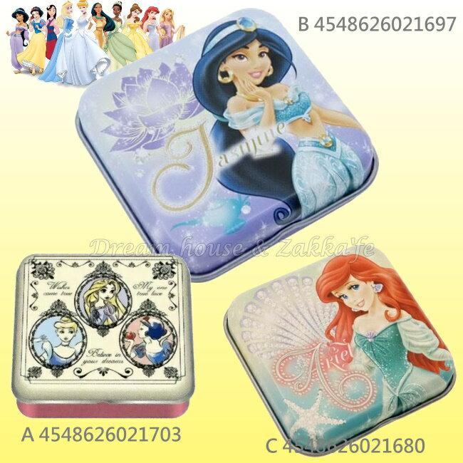 日本原裝進口 DISNEY 迪士尼 公主 迷你小物置物盒/鐵盒 《 3款任選 》★ 日本製 ★ Zakka'fe