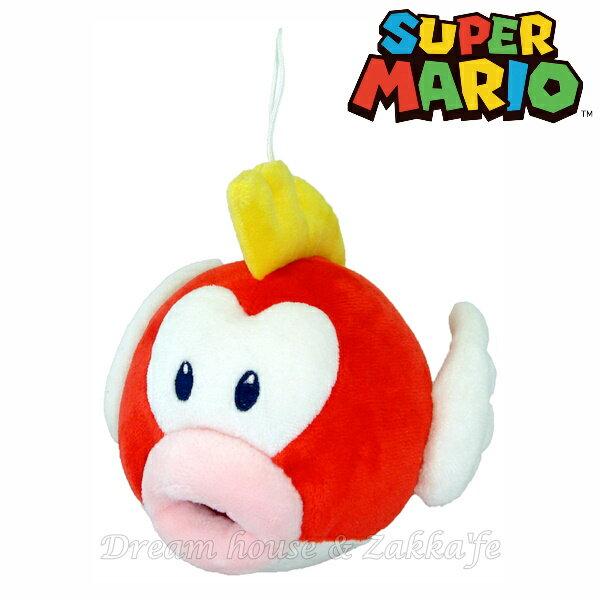 日本正版 任天堂 魚 絨毛玩偶 《 S 》 ★ Mario 瑪莉歐/馬力歐 ★ Zakka'fe