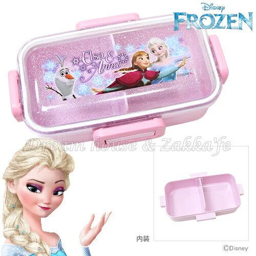 日本進口 迪士尼 Disney 冰雪奇緣 珠光 便當盒/保鮮盒 400ml 《 附隔板 》★ 日本製 ★ Zakka\